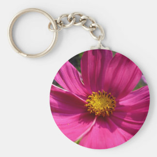 Hot Pink Cosmos Photo Key Chain