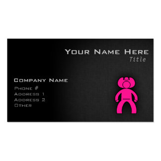 Hot Pink Cowboy; Cowgirl Double-Sided Standard Business Cards (Pack Of 100)