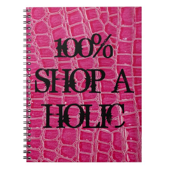Hot Pink Croc Crocodile Skin Faux Spiral Notebook