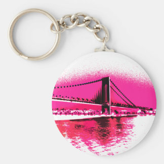 Hot Pink Crossing keychain