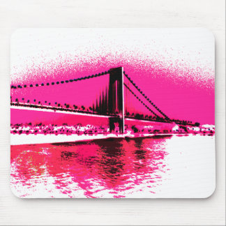 Hot Pink Crossing mousepad