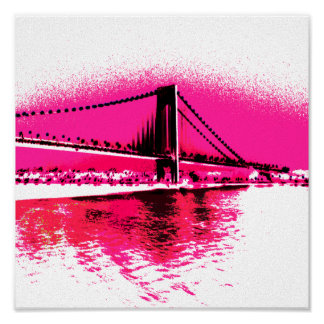 Hot Pink Crossing print