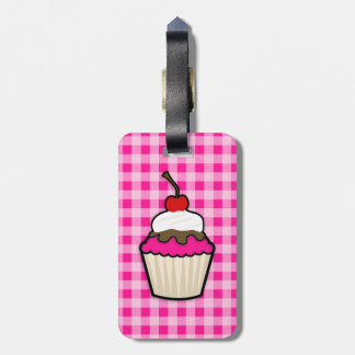 Hot Pink Cupcake Luggage Tag