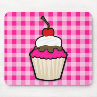 Hot Pink Cupcake Mouse Pad
