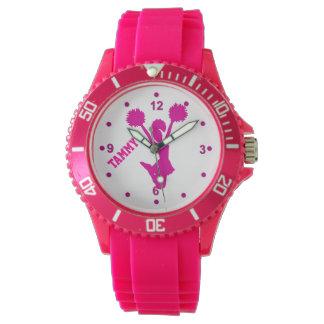 Hot Pink Custom Cheerleader's Watch