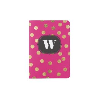 Hot Pink Custom Monogram Passport Cover