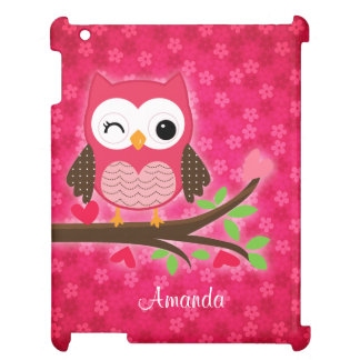 Hot Pink Cute Owl Girly Cover For The iPad 2 3 4