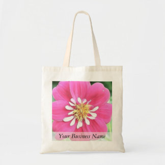 Hot Pink Dahlia Flower Tote Bag