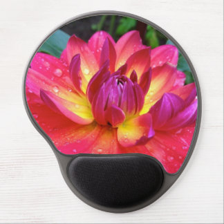 Hot Pink Dahlia Flower Mouse Pad Gel Mouse Pad