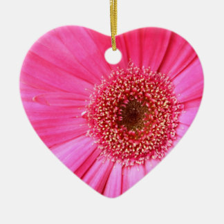 Hot Pink Daisy Christmas Ornament