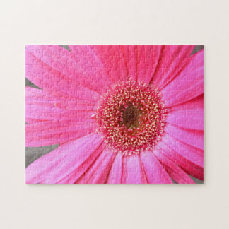 Hot Pink Daisy Jigsaw Puzzle