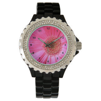 Hot Pink Daisy Watch