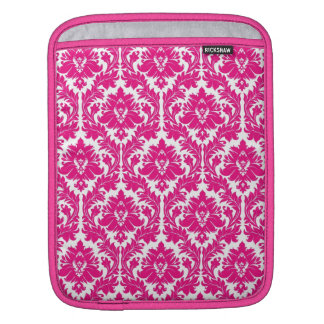 Hot Pink Damask Sleeves For iPads