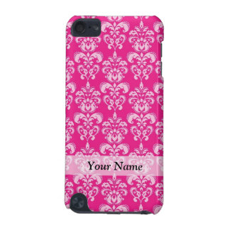 Hot pink damask pattern iPod touch 5G case
