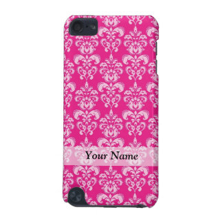 Hot pink damask pattern iPod touch 5G cover