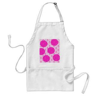 Hot Pink Damask with Pink Polka Dots Apron