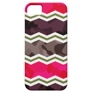 Hot Pink, Dark Brown, Taupe, and Green Camo iPhone 5 Covers