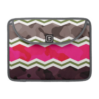 Hot Pink, Dark Brown, Taupe, and Green Camo MacBook Pro Sleeves