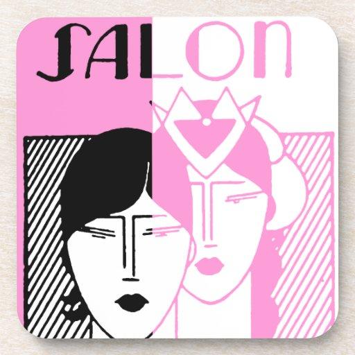Hot Pink Deco Beauty Shop Coasters