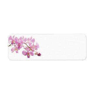 Hot Pink Dendrobium Orchid Flower Orchids Template Return Address Label