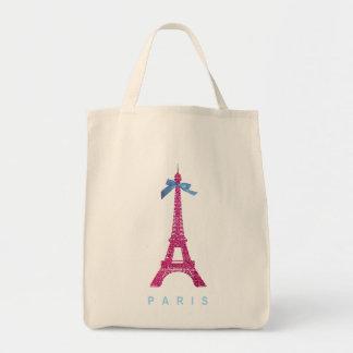 Hot Pink Eiffel Tower in faux glitter