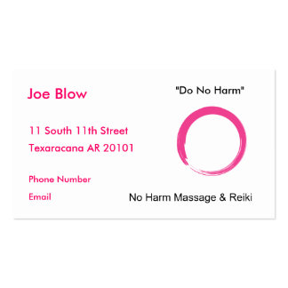 Hot Pink Enso symbol Pack Of Standard Business Cards