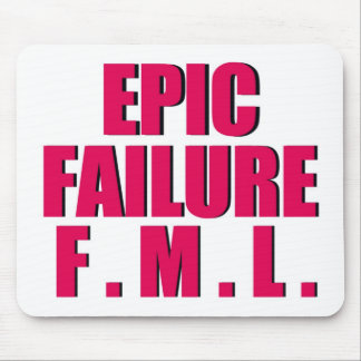 Hot Pink Epic Failure Mouse Mat
