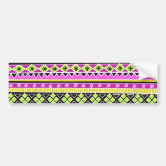 Hot Pink ethnic pattern Bumper Sticker