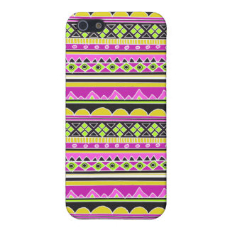 Hot Pink ethnic pattern Case For The iPhone 5
