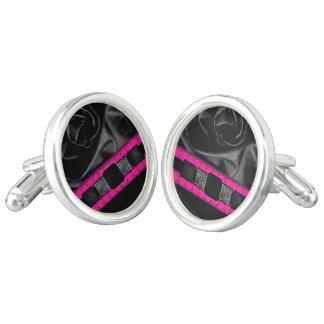 Hot Pink Fancy Monogram Cuff Links