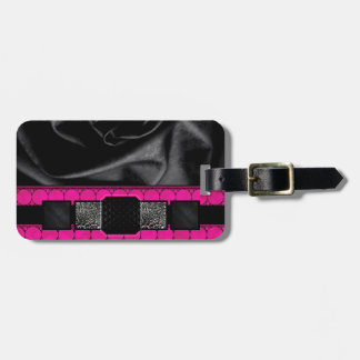 Hot Pink Fancy Monogram Tags For Bags