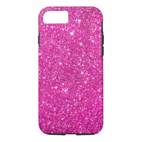 Hot Pink Faux Glitter Shining Pattern Girly iPhone