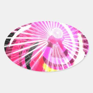 Hot Pink Ferris Wheel Sticker