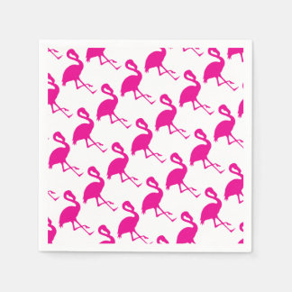 Hot Pink Flamingo Disposable Napkin