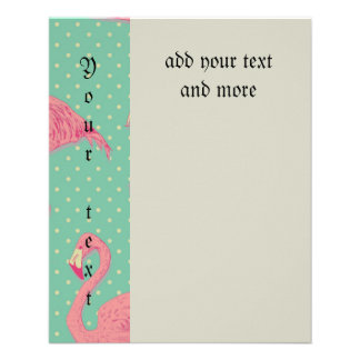 Hot pink,flamingo,polka dot,teal,peach,hipster,fun 11.5 cm x 14 cm flyer