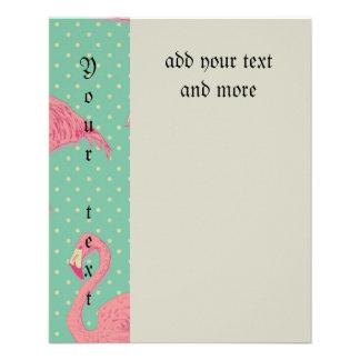"Hot pink,flamingo,polka dot,teal,peach,hipster,fun 4.5"" x 5.6"" flyer"