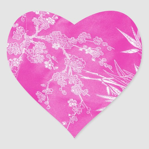 Hot Pink Floral Blossom Texture Stickers