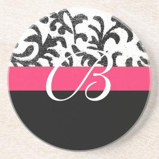 Hot Pink Floral Coaster