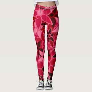 Hot Pink Floral Leggings