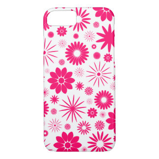 Hot Pink Floral Pattern Design iPhone 8/7 Case