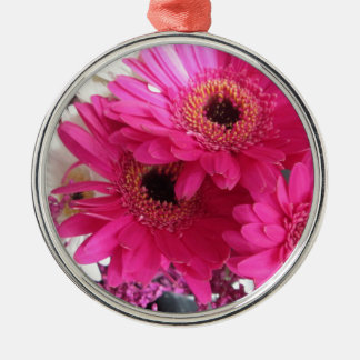 Hot Pink Flowers Christmas Ornament
