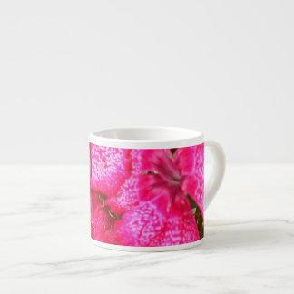 Hot Pink Flowers Espresso Mug