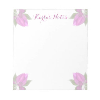 Hot Pink Flowers Notepad
