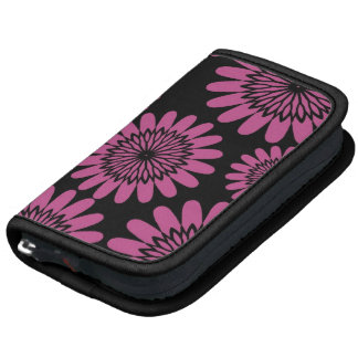 Hot Pink Flowers Folio Planners