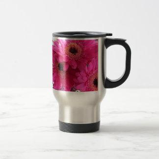 Hot Pink Flowers Travel Mug