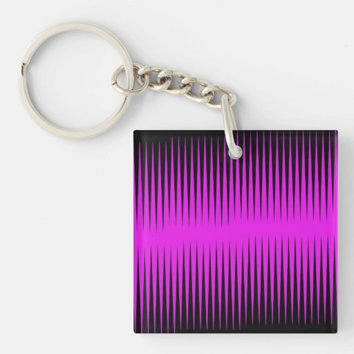 Hot Pink Frequency Acrylic Key Chains