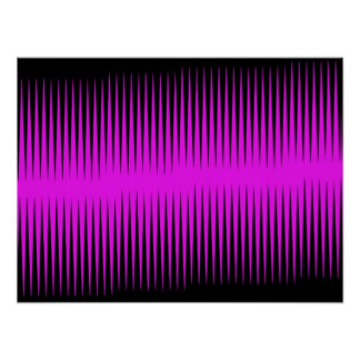 Hot Pink Frequency Posters