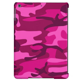 Hot Pink Fuchsia Camo Camouflage Girly Pattern iPad Air Cover