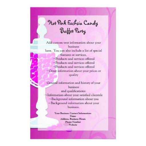 Hot Pink Fuchsia Candy Buffet Personalized Flyer