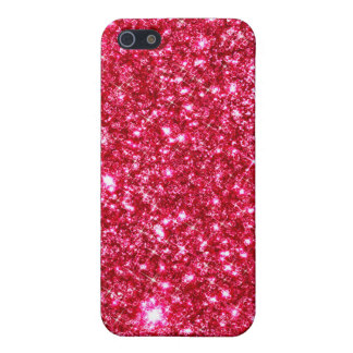 hot pink fuchsia tiny sequin glitter iPhone 5 cases